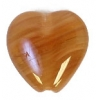 Glass Pressed Beads 10x10mm Heart Nut Brown